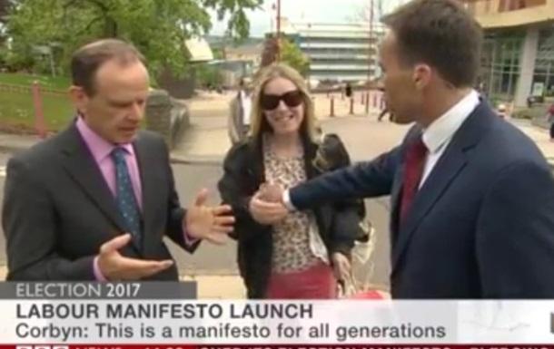 Ведущий BBC потрогал женщину за грудь в эфире