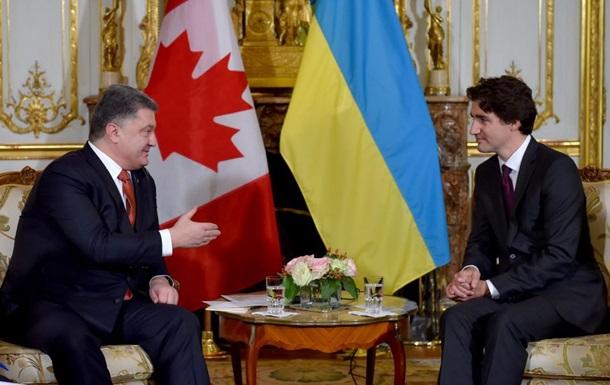 Премьер Канады рассказал Порошенко о поддержке НАТО