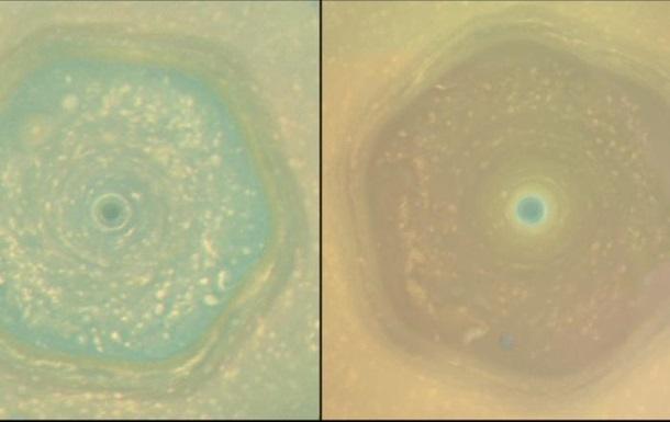 Cassini запечатлел бушующий ураган на Сатурне