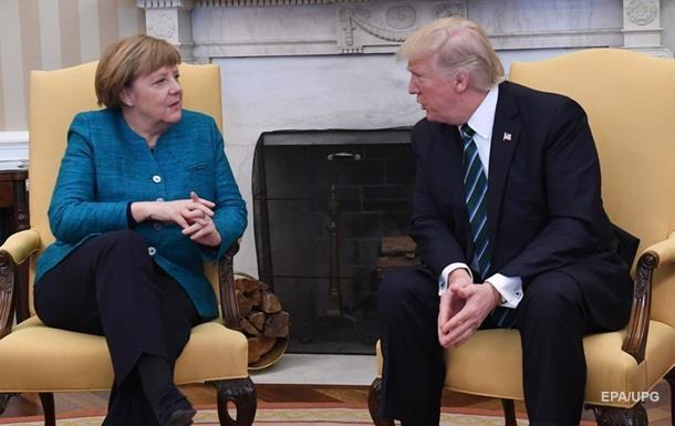Меркель обсудила с Трампом Украину