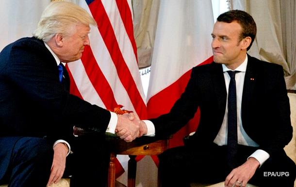 Макрон про рукостискання з Трампом: Це момент істини