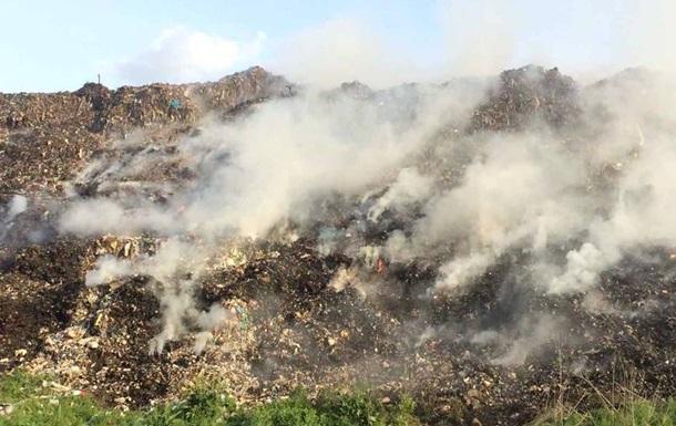 На Полтавському міському звалищі загасили пожежу