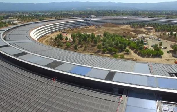 Дрон зняв нову гігантську штаб-квартиру Apple