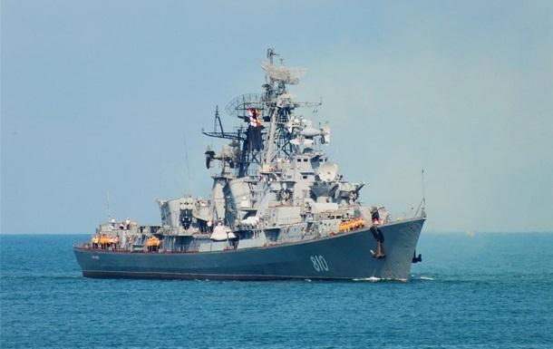 Росія вивела бойовий корабель із Середземного моря