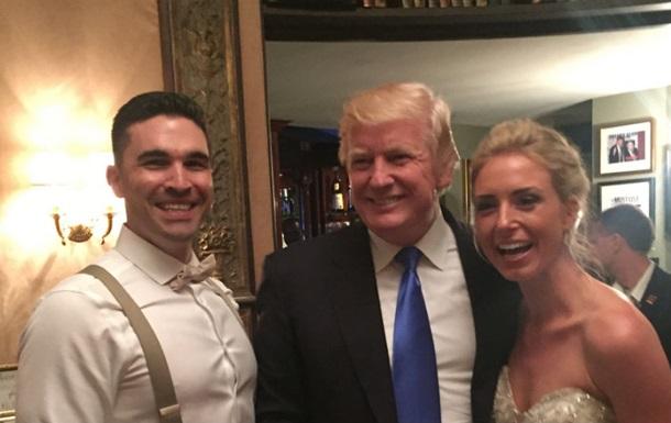 Трамп несподівано зайшов на чуже весілля