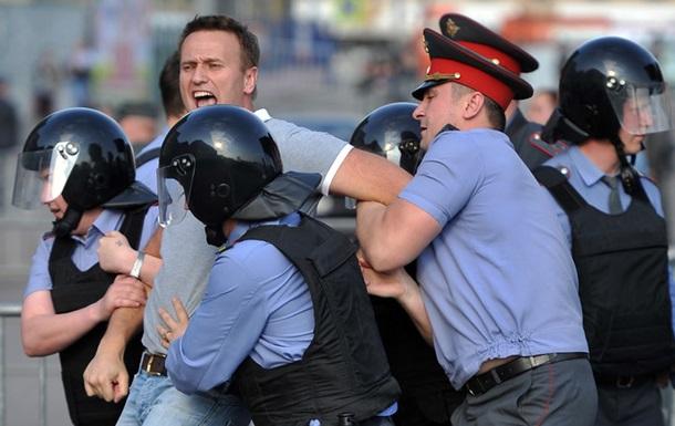 В Москве задержали Навального, митинг не отменили