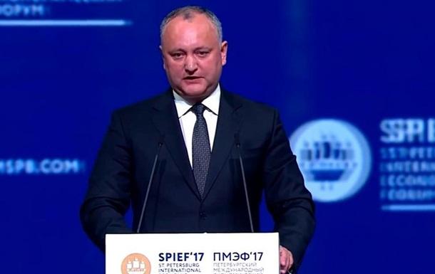 В фокусе мировых СМИ: о речи президента Молдавии Игоря Додона на питерском форум