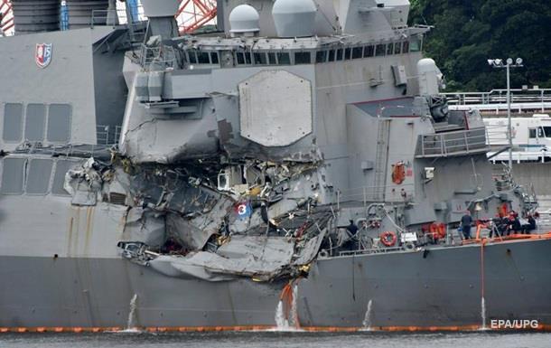 ЧП с эсминцем США: на ремонт понадобится несколько месяцев