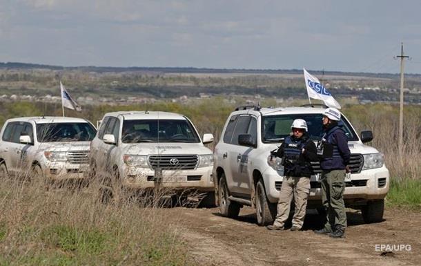 Возле патруля ОБСЕ прогремели взрывы