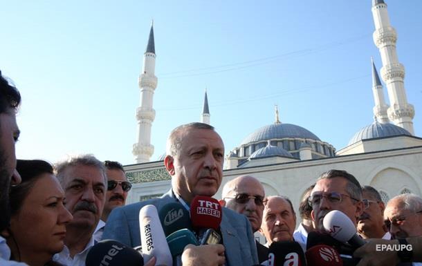 Ердоган втратив свідомість під час святкової молитви