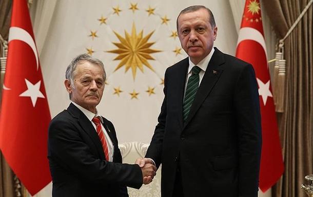 Джемилев в Турции встретился с Эрдоганом