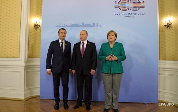 Меркель, Макрон і Путін за припинення вогню в АТО