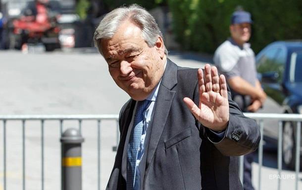 Генсек ООН пообещал гуманитарную помощь Украине