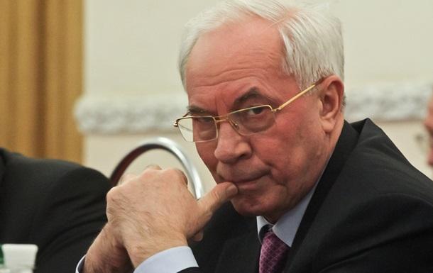Генпрокуратуре разрешили расследование по Азарову