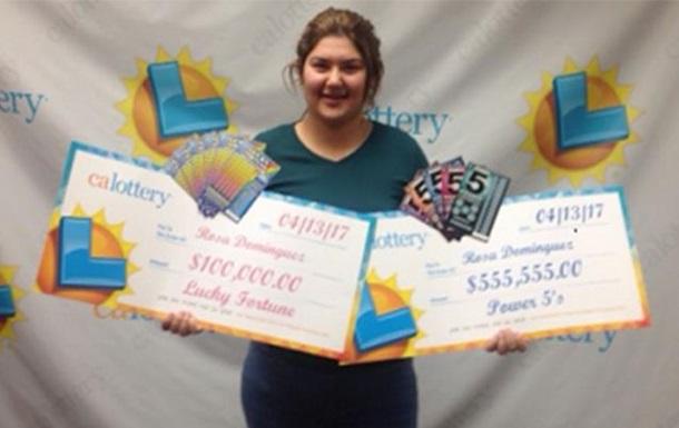 В Калифорнии тинейджер дважды за неделю выиграла в лотерею