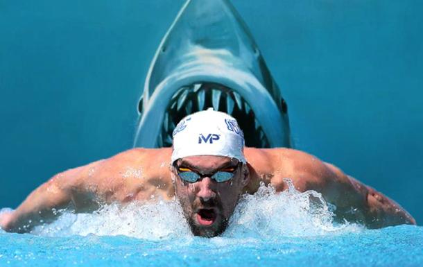 Олімпійський чемпіон-плавець змагався з білою акулою