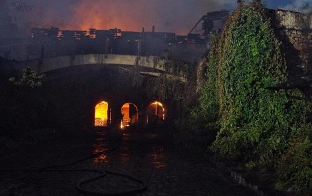На пляже в Одессе сгорел ресторан
