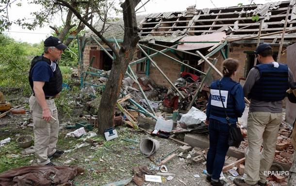 ОБСЕ подсчитала взрывы на Донбассе за выходные