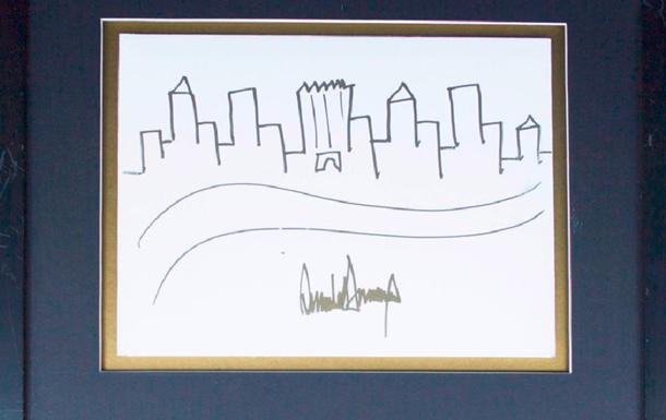 Рисунок Трампа выставят на торги