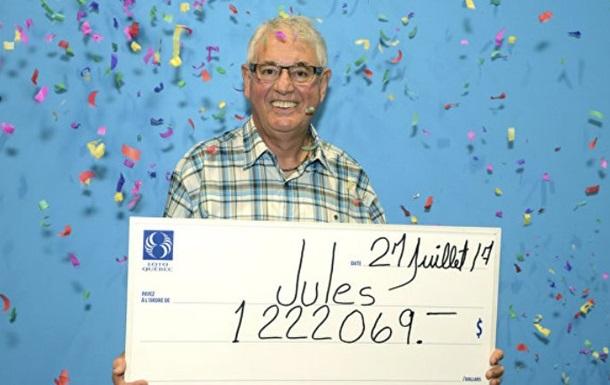 В Канаде пенсионер второй раз выиграл в лотерею миллион долларов