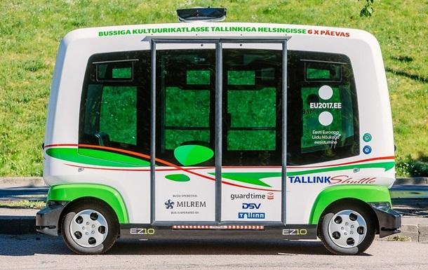 У Талліні почали курсувати безпілотні автобуси