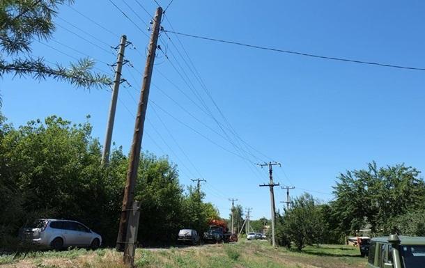 На Донбасі три селища підключили до електропостачання