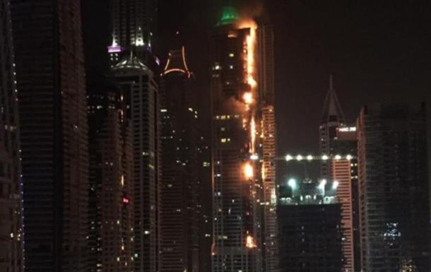 Пожар в дубайском небоскребе потушен