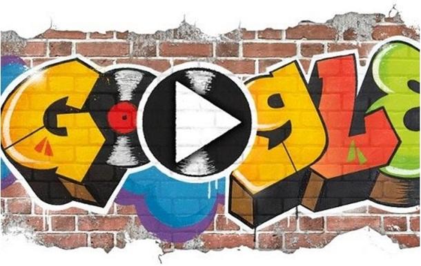 Google создал дудл в честь 44-летия хип-хопа