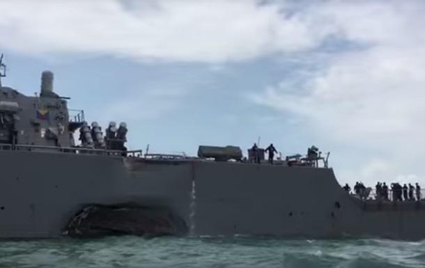 У мережі подали слід удару танкера по есмінцю США