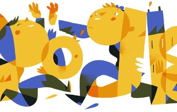 Google привітав з Днем Незалежності України святковим дудлом