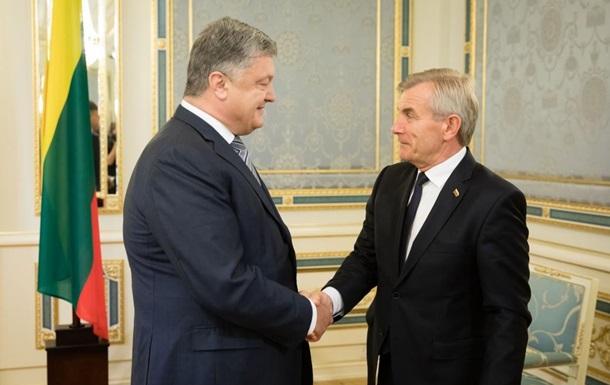 Порошенко обговорив зі спікером Сейму Литви  план Маршалла
