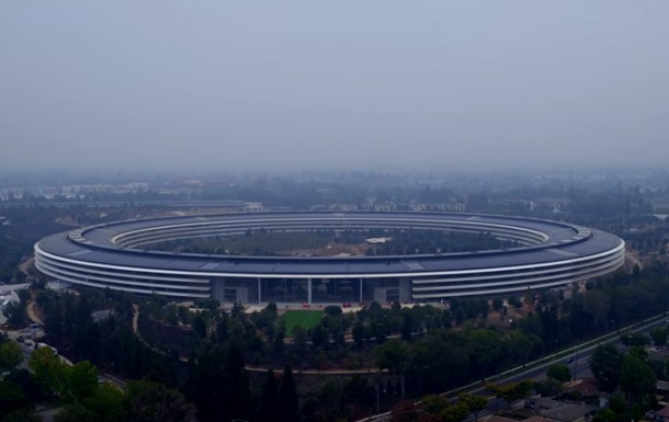 Инопланетный  кампус Apple показали в новом видео