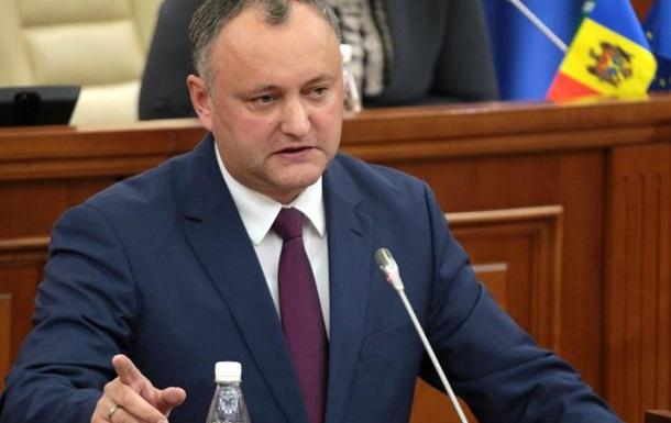 Парламент Молдови звинуватив Додона у зловживанні владою