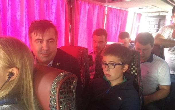 Саакашвили возле границы: Чувствую себя украинцем