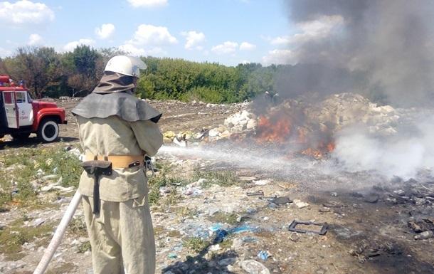 У Вінницькій області підпалили сміттєвий полігон