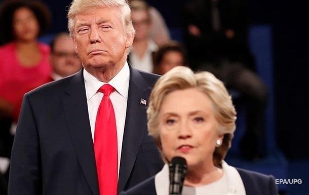 Трамп показал видео с  ударом  по Клинтон