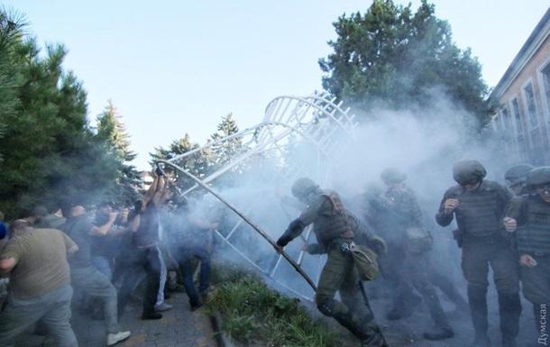 Стычка с полицией в Черноморске