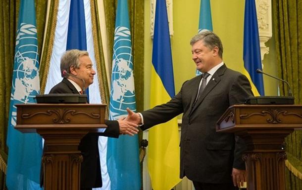 Порошенко начал встречу с генсеком ООН