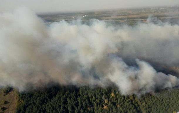 В Харьковской области горит 70 га леса