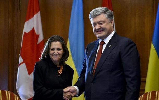 Порошенко обговорив у Канаді введення миротворців