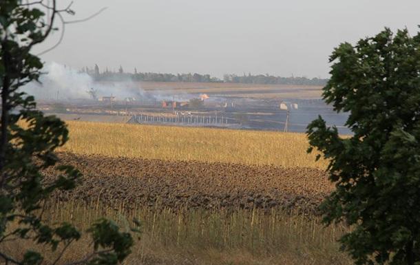 Появилось видео последствий пожара под Мариуполем
