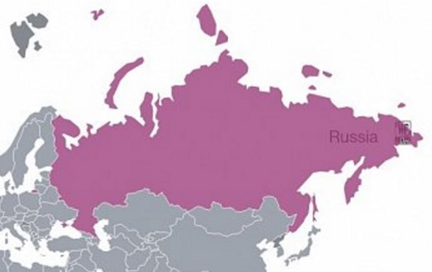 В Італії компанія опублікувала карту РФ з Кримом