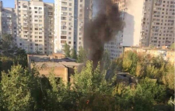 В Киеве горел недостроенный детсад