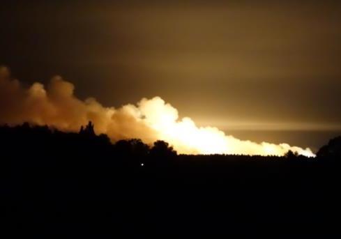 Пожежа на війських складах у Калинівці