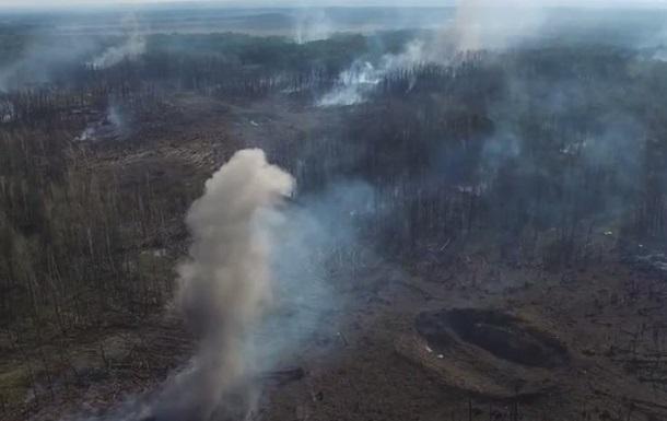 Взрывы в Калиновке сняли с дрона