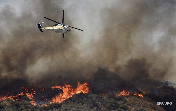 Очевидцы сняли масштабный пожар в Калифорнии