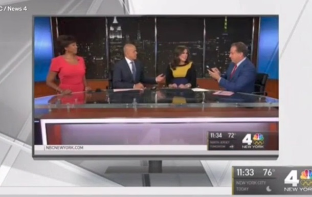 У ведущей новостей отошли воды в прямом эфире
