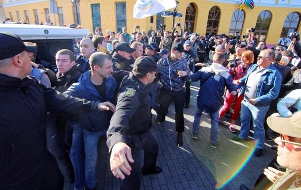 Саакашвілі в Одесі: сутички активістів і пробки