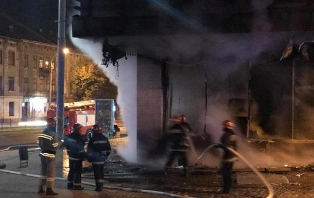 Во Львове сгорело отделение Сбербанка
