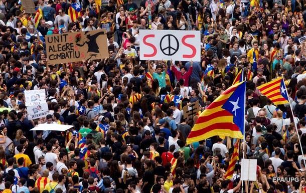 В Барселоне протестовали 700 тысяч человек